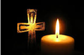 untitled candle and cross